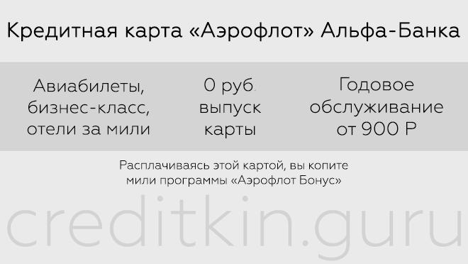 "Карта ""Аэрофлот бонус"" Альфа-банк"