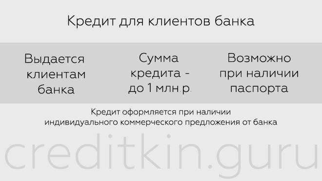 Кредит для клиентов банка УБРиР
