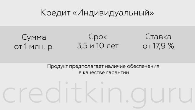 """Кредит """"Индивидуальный"""""""