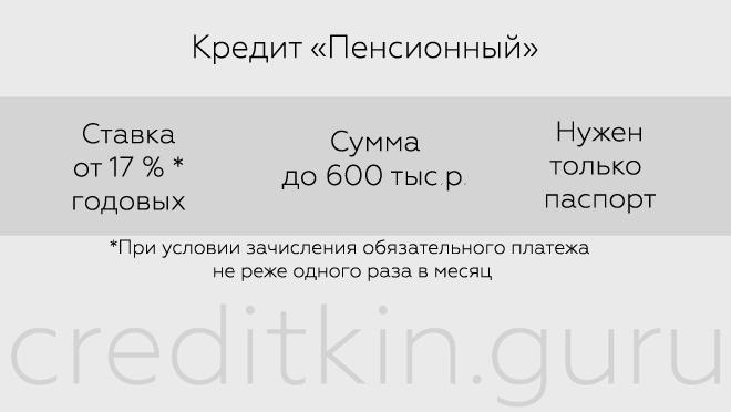 """Кредит """"Пенсионный"""" от УБРиР"""