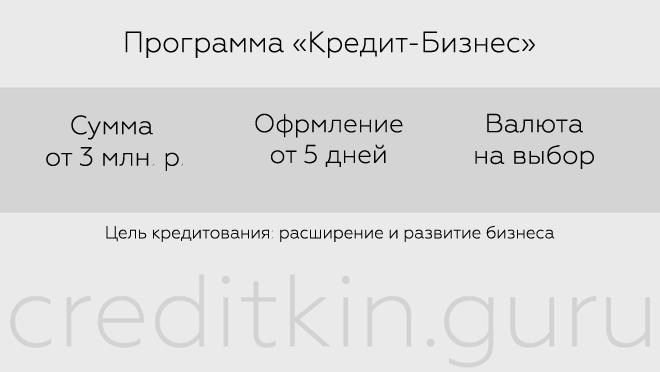 """Программа """"Кредит-бизнес"""" от Промсвязьбанка"""