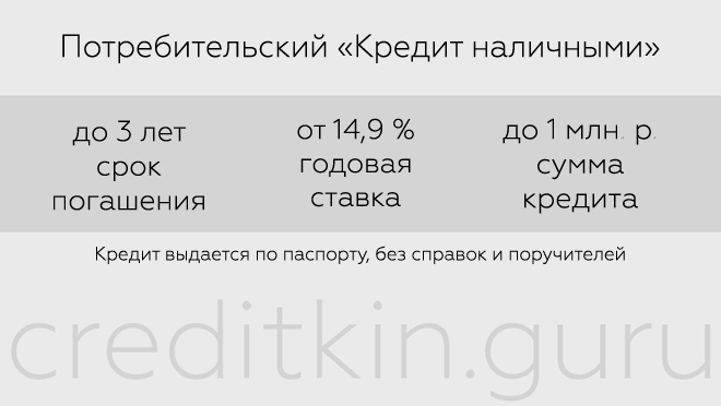 Кредит наличными от банка Тинькофф