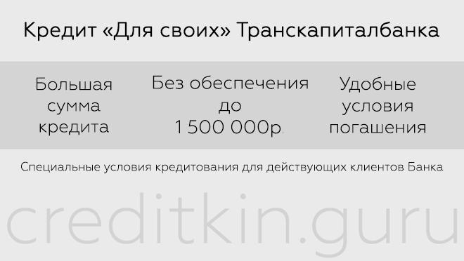 Кредитование в Транскапиталбанке