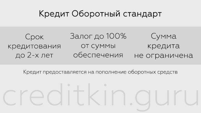 Кредит на пополнение оборотных средств в Россельхозбанке