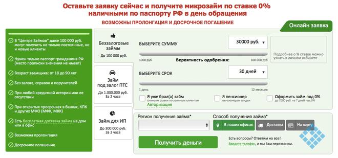 Как составить онлайн-заявку на получение займа в «Центре Займов»
