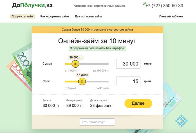 Онлайн-заявка на оформление быстрого займа в МФО «ДоПолучки»