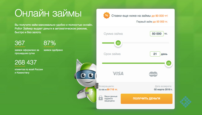 Как оформить онлайн-заявку на быстрый займ в МФО «Займер» в Казахстане