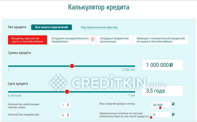 Калькулятор кредита