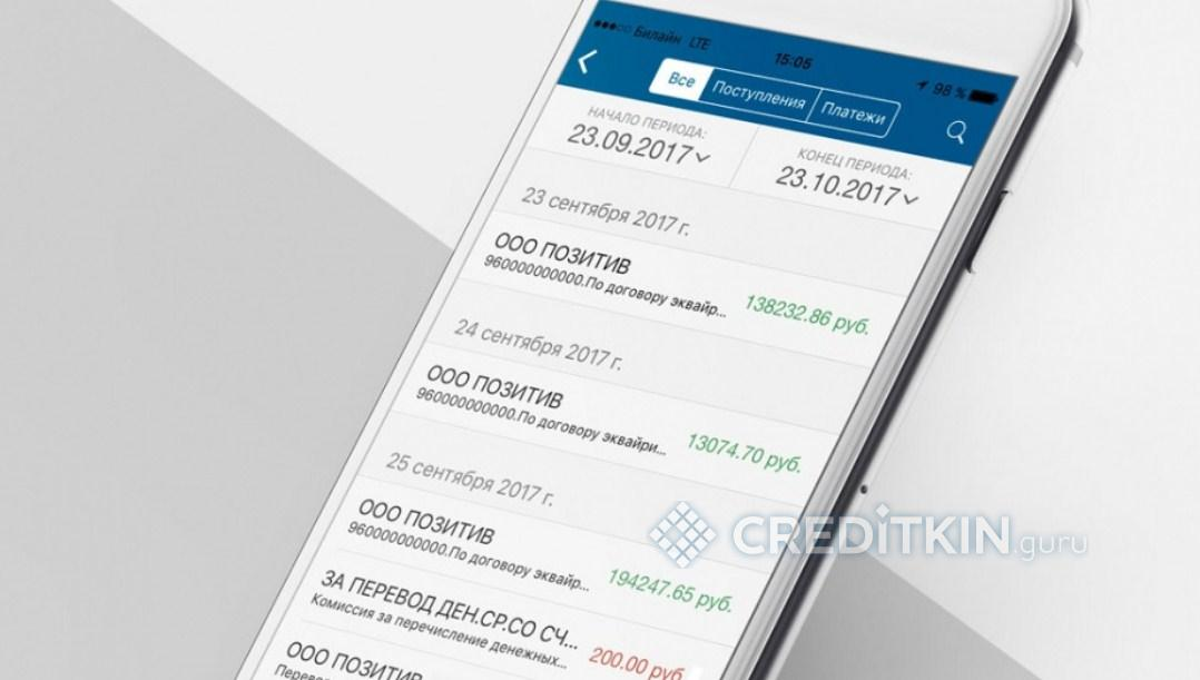 Приложение «Кубань-Кредит» Бизнес для мобильных устройств