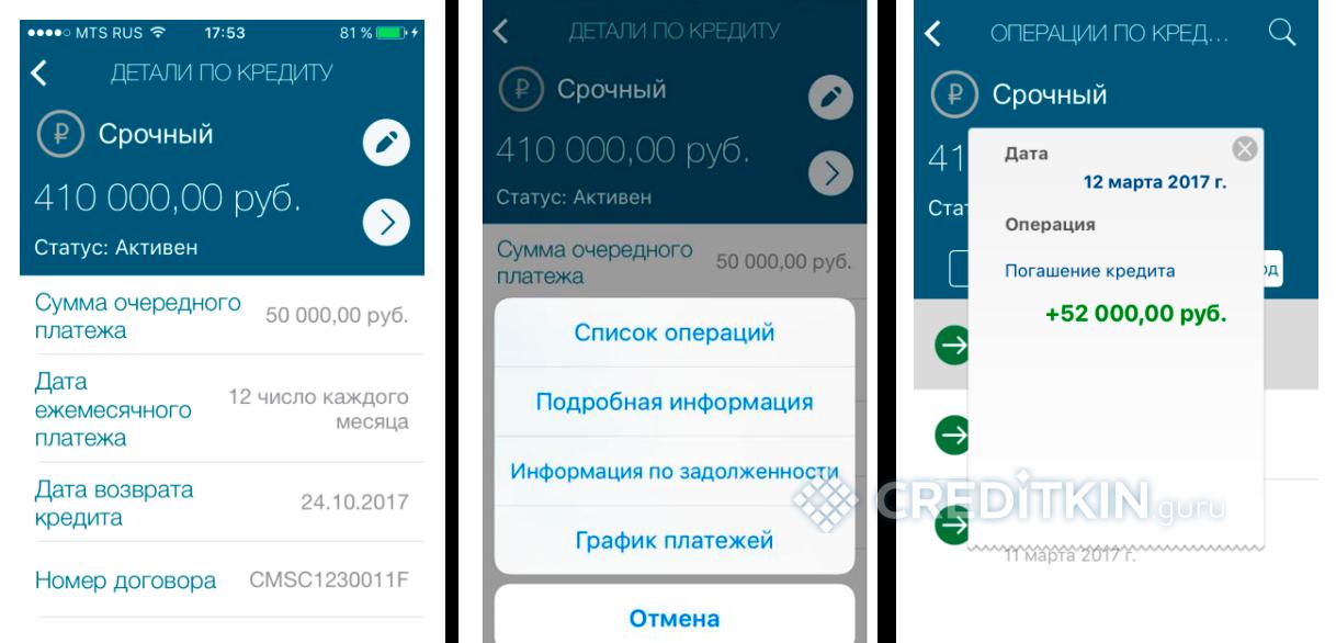 Инструкция по управлению кредитами онлайн